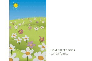 Field of daisies (vertical)