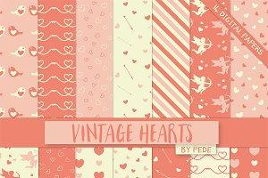 Vintage hearts.
