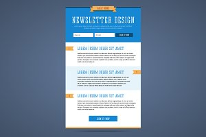 Newsletter page design