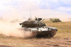 Tanks on the battle field