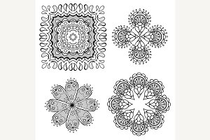 Geometric circular ornament set