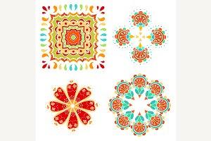 monochrome doodle flowers
