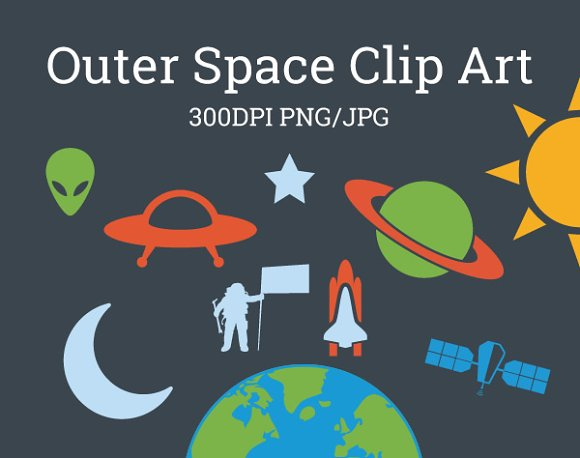 Outer Space Universe Galaxy Clip Art
