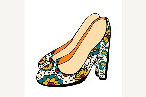 Vector illustration of shoes.