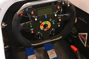 Racing car streeing wheel