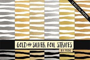 Foil stripes.