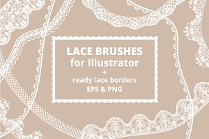 Lace Brushes for Illustrator