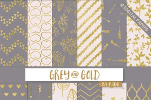 Grey and gold.