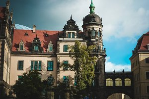 Old building in Europe.Dresden.