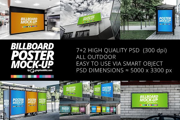 Download Billboard & Poster mockups