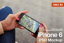 iPhone 6 Landscape PSD Mockup