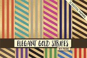 Elegant gold stripes.