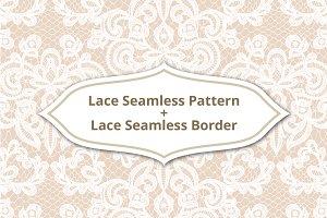 Lace Seamless Pattern & Border.