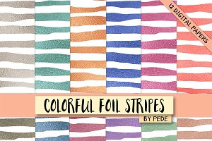 Colorful foil stripes