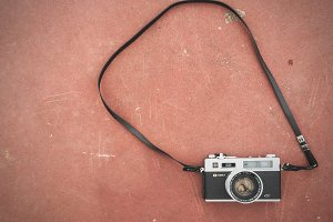 Film Camera on the Ground