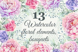 Wedding watercolor clipart