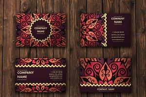 Mandala pattern business card 01