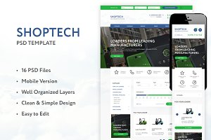 SHOPTECH – Clean PSD Tempalate
