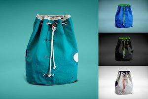 Drawstring Psd Bag Mockup 2