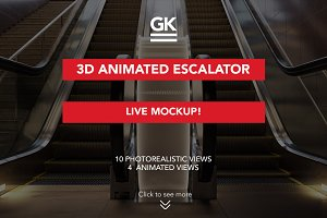 3d Escalator / Lightbox mock ups