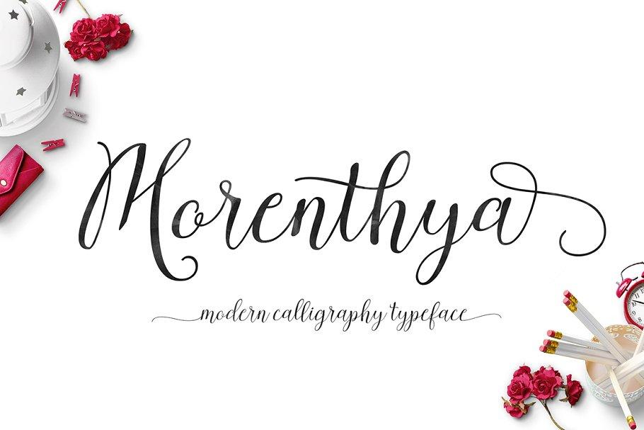 Morenthya Script ~ Script Fonts ~ Creative Market