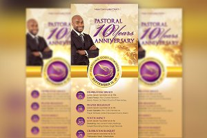 Clergy Anniversary Rack Card