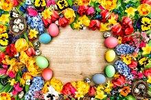 Easter background spring flowers