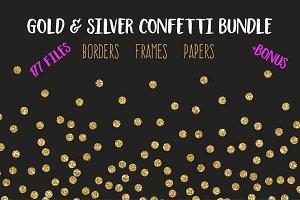 Confetti Bundle. Gold Silver Glitter