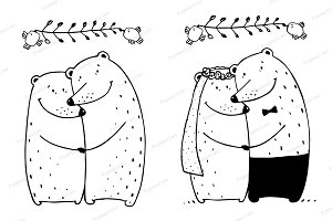 Bear Wedding Couple
