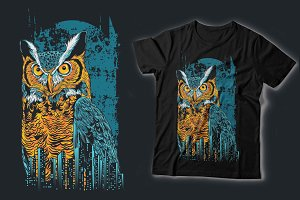 Owl City Vector T-shit Design