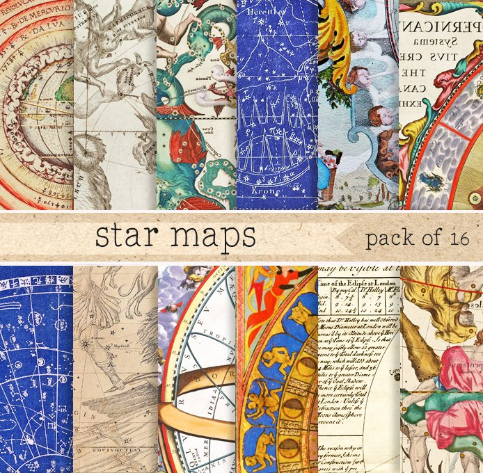 Astronomical maps digital paper patterns creative market gumiabroncs Image collections