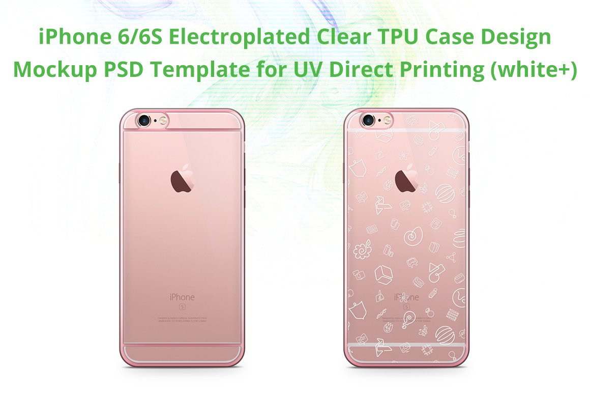Iphone 6s Electroclear Tpu Case Mock Product Mockups Creative Market