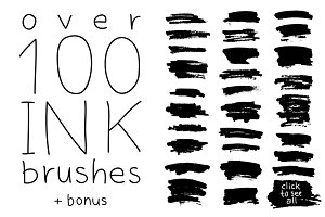 Big Set - Over 100 Ink Brushes