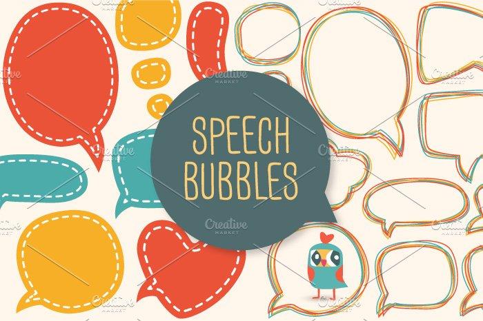 Speech bubbles ~ Graphics ~ Creative Market