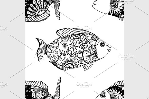 seamless pattern fish in Graphics
