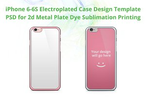 iPhone 6s Electroplated 2d case Mock