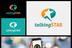 Talking Star Logo