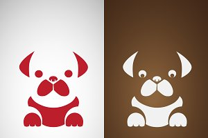 Vector image of an pug dog design