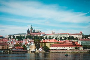 View of Prague from water