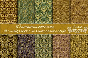 Renaissance seamless patterns Pack 4