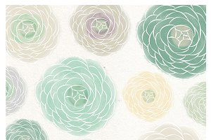 Watercolor flower mint clipart