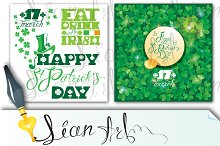 2 cards. Happy St. Patrick`s Day.