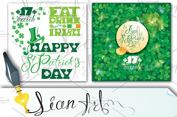 2 cards. Happy St. Patrick`s Day. - Cards