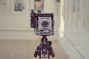 Large format vintage camera
