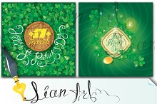 2 cards. Happy St. Patrick`s Day