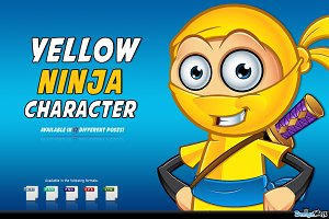 Yellow Ninja Character