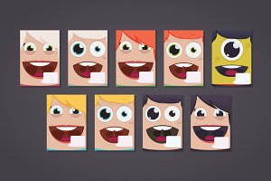 9 Poster with faces - DIY