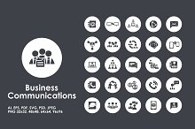 Business Communication simple icons