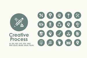Creative Process simple icons