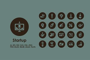 Startup simple icons